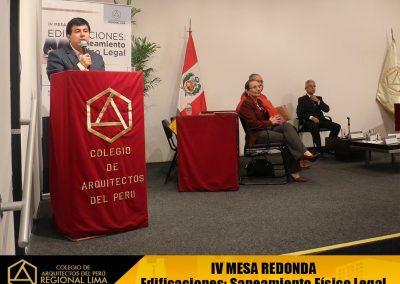 """IV Meda Redonda """"Edificaciones: Saneamiento Físico Legal"""""""
