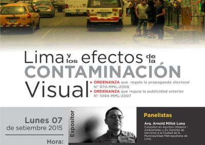 Lima y los efectos de la contaminación visual