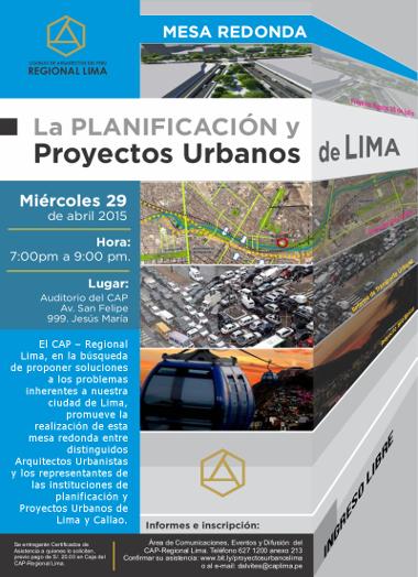 La planificación y proyectos urbanos de lima