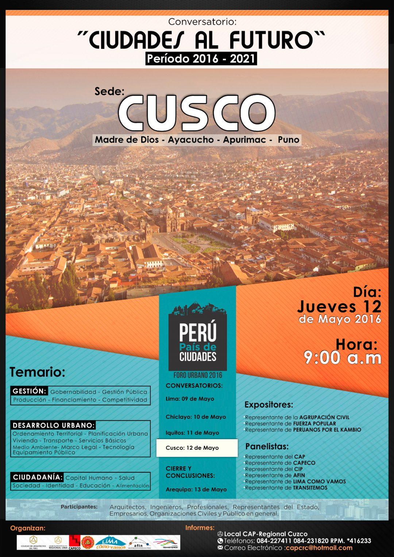 Ciudades al futuro – Sede Cusco