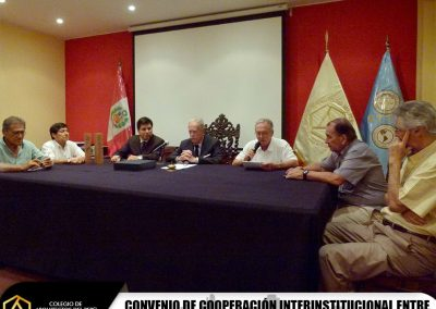 Fotos: Convenio de Cooperación Interinstitucional entre el Cuerpo Técnico de Tasaciones del Perú y el CAP-Regional Lima