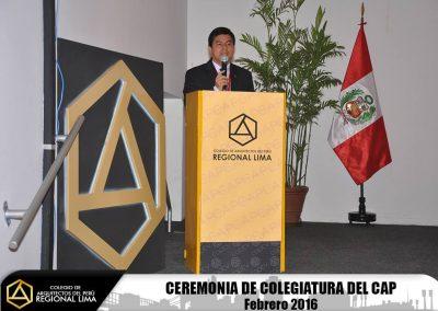 Fotos: Ceremonia de Colegiatura – Febrero 2016