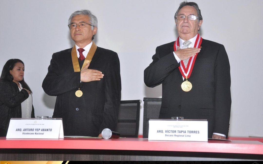 Ceremonia de Colegiatura Regional Lima – 21 de Octubre del 2016