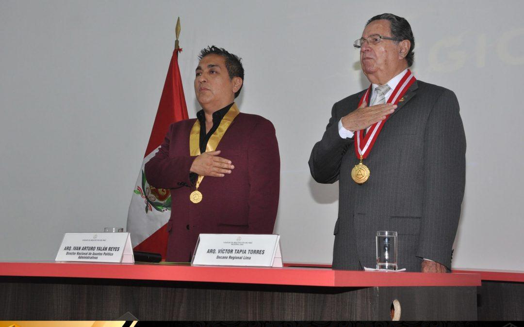 Ceremonia de Colegiatura Regional Lima – 21 de Diciembre del 2016