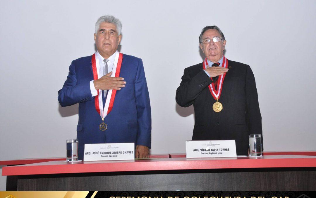 Ceremonia de Colegiatura Regional Lima – 30 de Noviembre del 2016