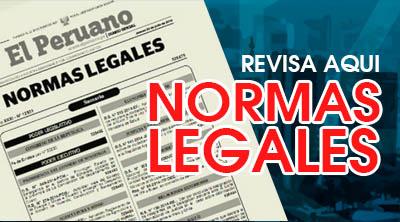 Normas Legales publicadas en el Diario El Peruano