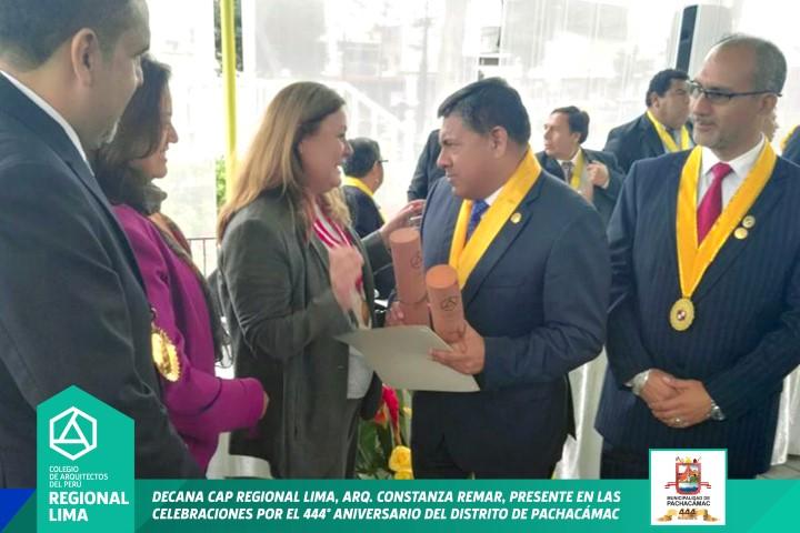 DECANA CAP REGIONAL LIMA PRESENTE EN LAS CELEBRACIONES POR EL 444º ANIVERSARIO DEL DISTRITO DE PACHACÁMAC