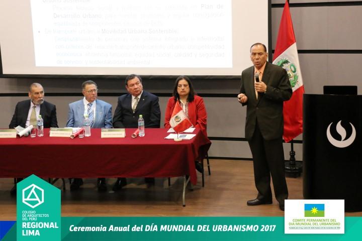 ARQ. RODOLFO CASTILLO – DIA MUNDIAL DEL URBANISMO 2017