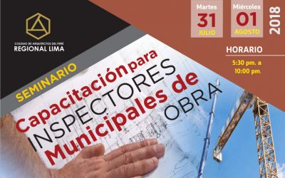 SEMINARIO CAPACITACIÓN PARA INSPECTORES MUNICIPALES DE OBRA