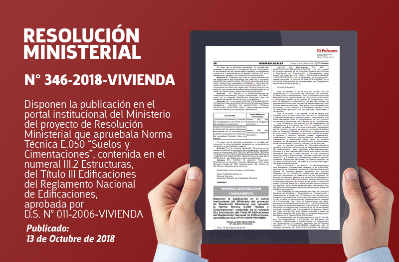 RM Nº 346-2018-VIVIENDA