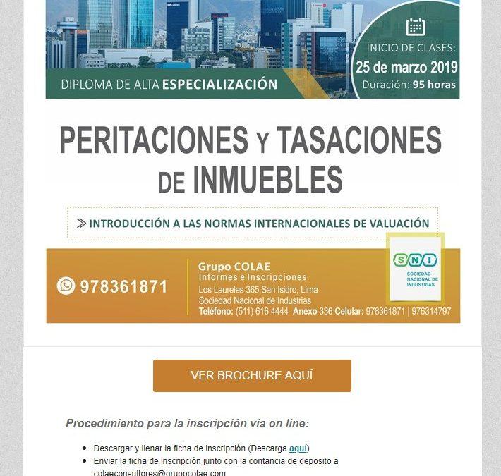 COLAE Corporación Latinoamericana de Entrenamiento – Peritaciones y Tasaciones NotiCAPLima 034-2019