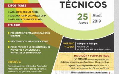 SEMINARIO ELABORACIÓN DE EXPEDIENTES TÉCNICOS – 25 ABRIL 2019  NotiCAPLima 041-2019