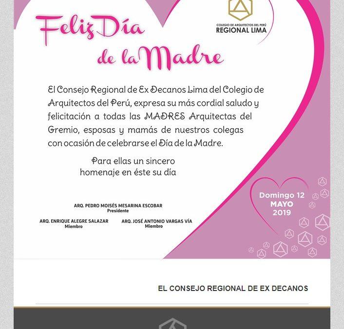 ¡FELIZ DÍA DE LA MADRE!  NotiCAPLima 047-2019