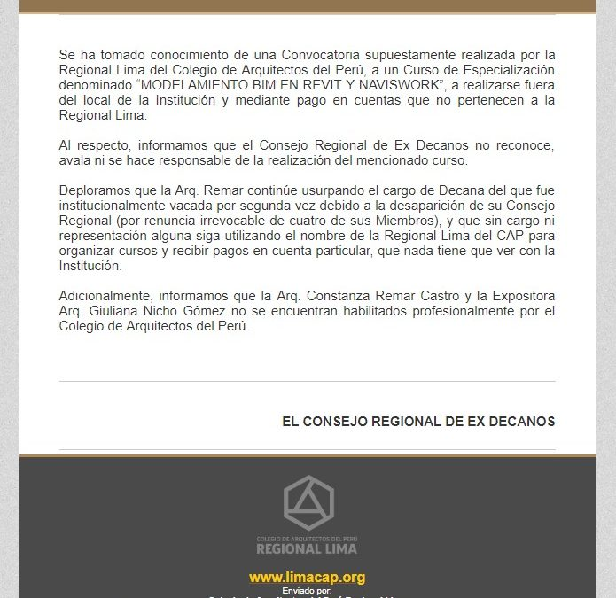 COMUNICADO  NotiCAPLima 055-2019