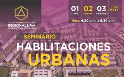 Seminario: Habilitaciones Urbanas 2019