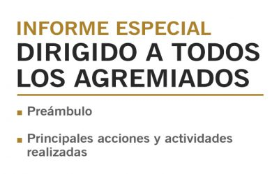INFORME ESPECIAL DIRIGIDO A TODOS LOS AGREMIADOS    NotiCAPLima 081-2019