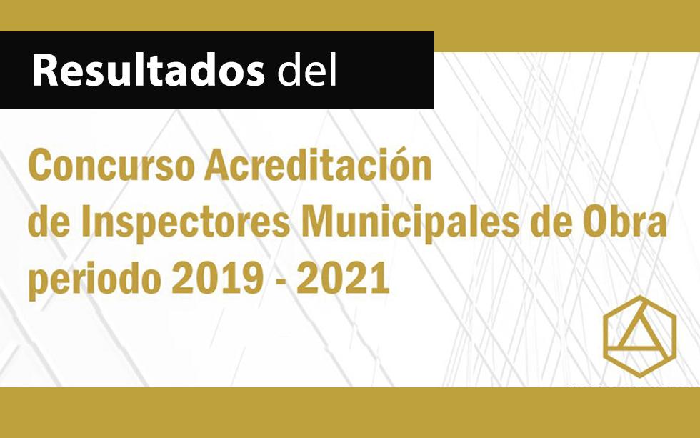 RESULTADO DEL  CONCURSO PARA INSPECTORES MUNICIPALES DE OBRA 2019-2021     NotiCAPLima 095-2019