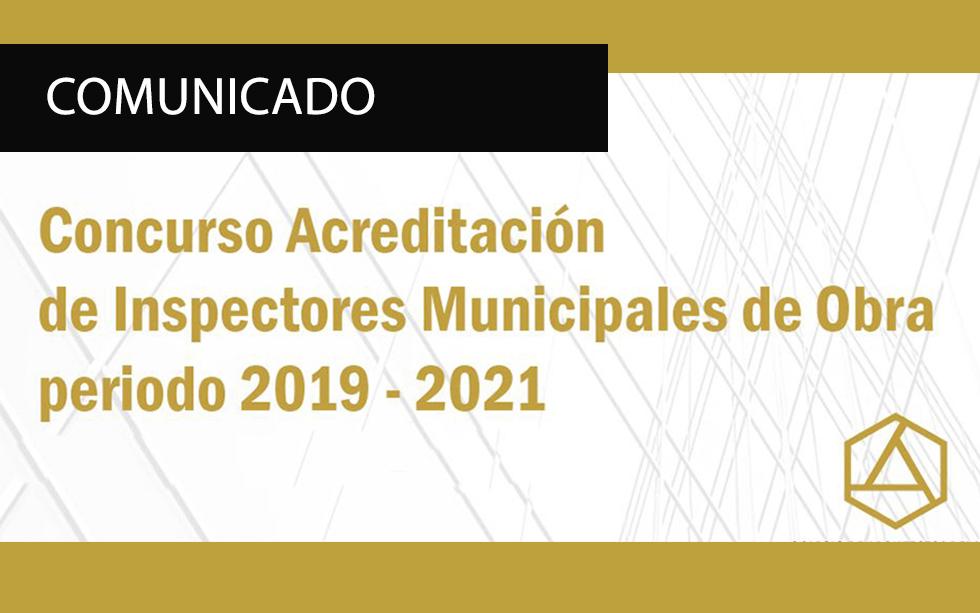 COMUNICADO CONCURSO PARA INSPECTORES MUNICIPALES DE OBRA 2019-2021     NotiCAPLima 090-2019