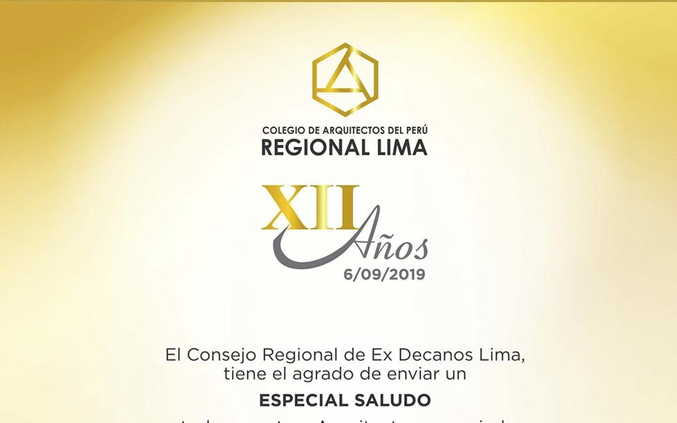 XII Aniversario de la Institución del día de la Regional Lima – NotiCAPLima 108-2019