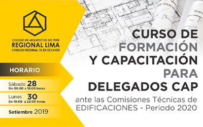 Cursos Formación y Capacitación para Delegados CAP RL periodo 2020