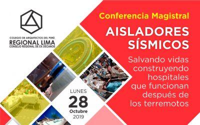 Conferencia Magistral Aisladores Sísmicos.
