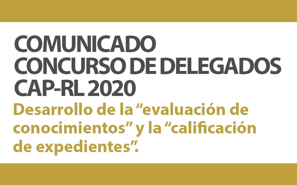 COMUNICADO CONCURSO DE DELEGADOS CAP – RL 2020   NotiCAPLima 172-2019