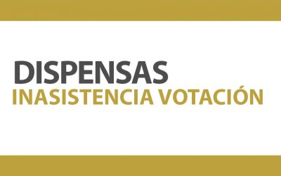 DISPENSAS INASISTENCIA VOTACIÓN | NotiCAPLima 014-2020
