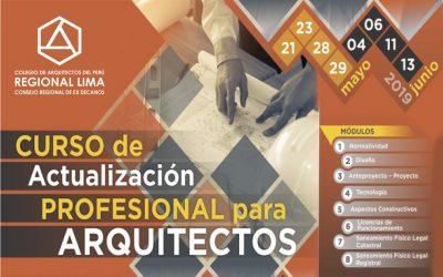 Curso: Actualización Profesional para Arquitectos 2019