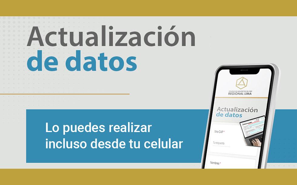 AHORA PUEDES ACTUALIZAR TUS DATOS DESDE TU CELULAR #YoMeQuedoEnCasa | NotiCAPLima 042 -2020