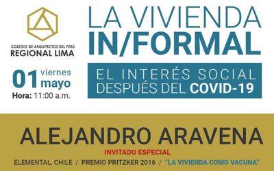 La Vivienda In/Formal El Interés Social después del COVID-19 – Inscripción gratuita #YoMeCapacitoCAPRL #YoMeQuedoEnCasa | NotiCAPLima 069-2020