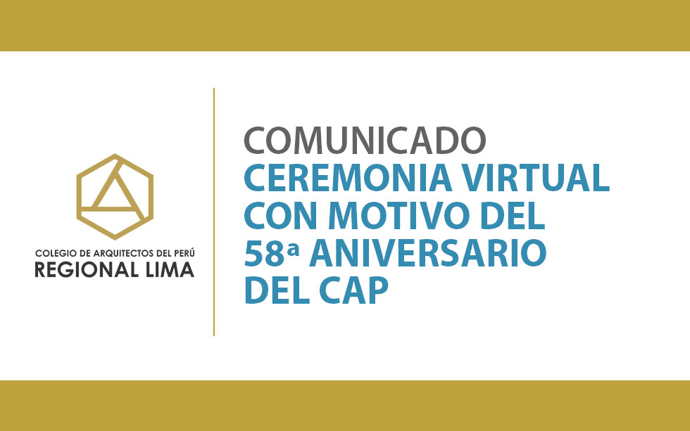 CEREMONIA VIRTUAL 58ª ANIVERSARIO CAP | NotiCAPLima 097-2020