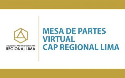 Mesa de Partes Virtual CAP RL | NotiCAPLima 101-2020
