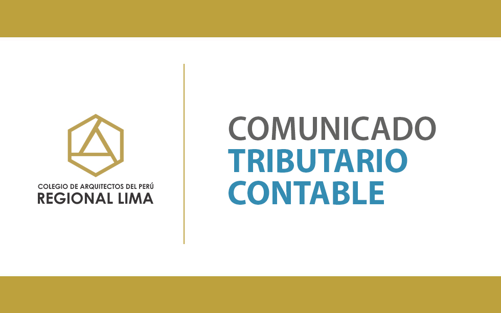 Comunicado Tributo Contable | NotiCAPLima 093-2020