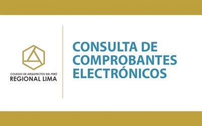 Consulta de Comprobantes Electrónicos | NotiCAPLima 113-2020