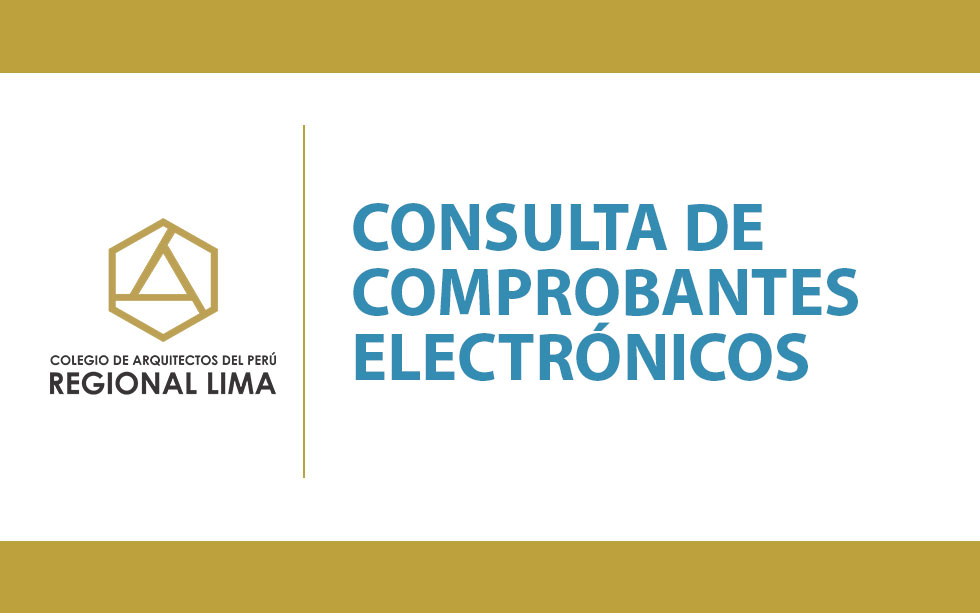 Consulta de Comprobantes Electrónicos   NotiCAPLima 113-2020