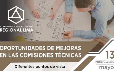 """Webinar """"Oportunidades de Mejoras en las Comisiones Técnicas"""""""