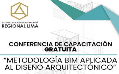 Conferencia de Capacitación Metodología BIM aplicada al Diseño Arquitectónico