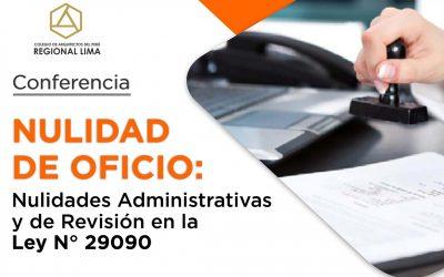 Nulidad de oficio: Nulidades Administrativas y de Revisión en la Ley N° 29090