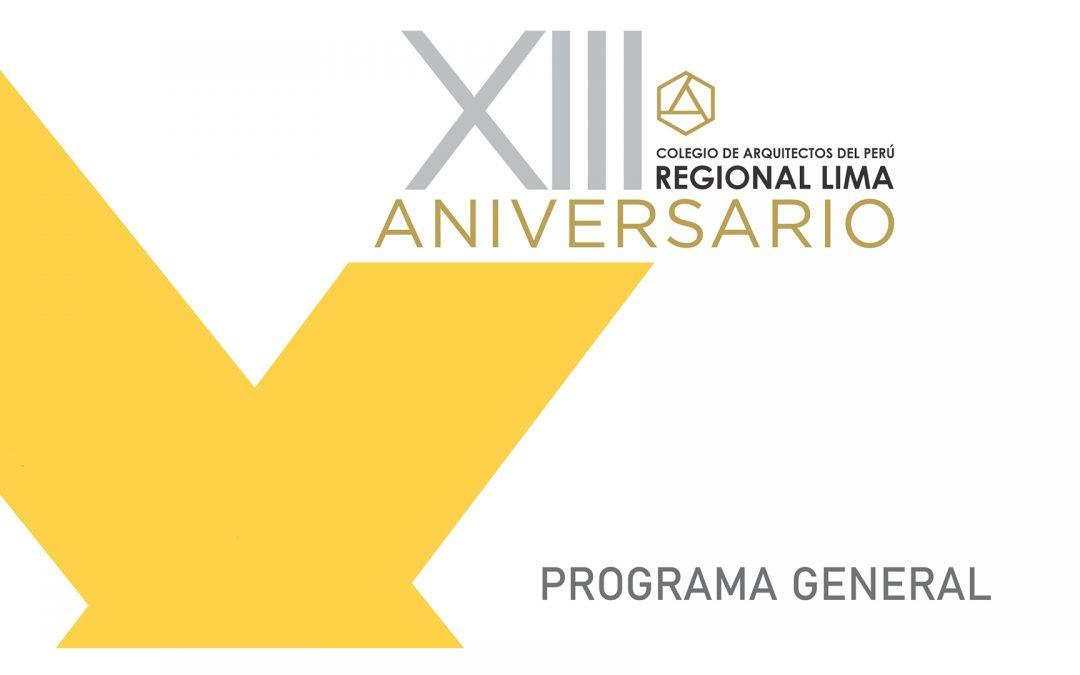 Programa General XIII Aniversario CAP Regional Lima | NotiCAPLima 165-2020