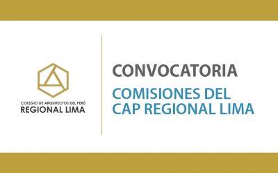 Convocatoria para Comisiones de la Regional Lima | NotiCAPLima 173-2020