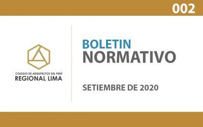 Boletín Normativo CAP Lima N° 002 – Setiembre 2020