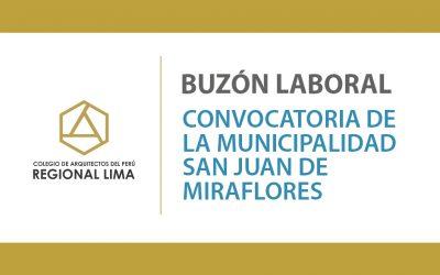 Buzón Laboral – Convocatoria de la Municipalidad San Juan de Miraflores | NotiCAPLima 214-2020