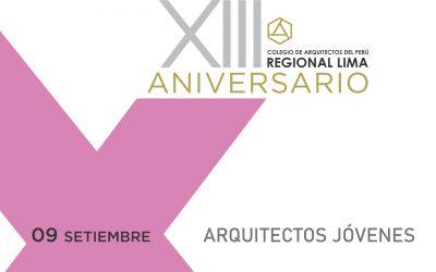 XIII Aniversario CAP Regional Lima | Arquitectos Jóvenes | 09 Setiembre 2020