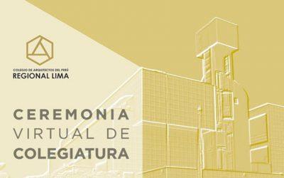 Ceremonia Virtual de Incorporación de Nuevos Colegiados | 20 octubre 2020