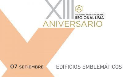 XIII Aniversario CAP Regional Lima | Edificios Emblemáticos | 07 Setiembre 2020