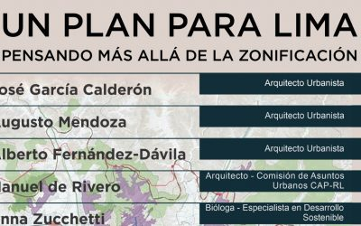Conversatorio: Un plan para Lima Pensando más allá de la Zonificación
