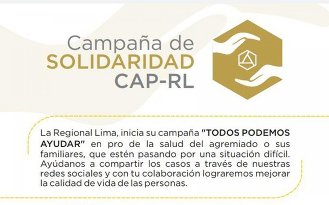 Campaña de Solidaridad Camino a una operación   NotiCAPLima 230-2020
