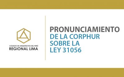 Pronunciamiento de la CORPHUR sobre la Ley 31056 | NotiCAPLima 219-2020