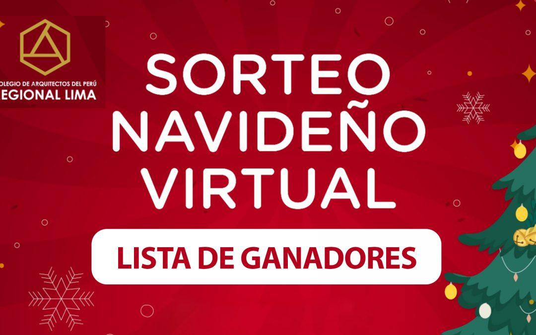 Lista de ganadores – Sorteo Virtual Navideño   NotiCAPLima 255-2020