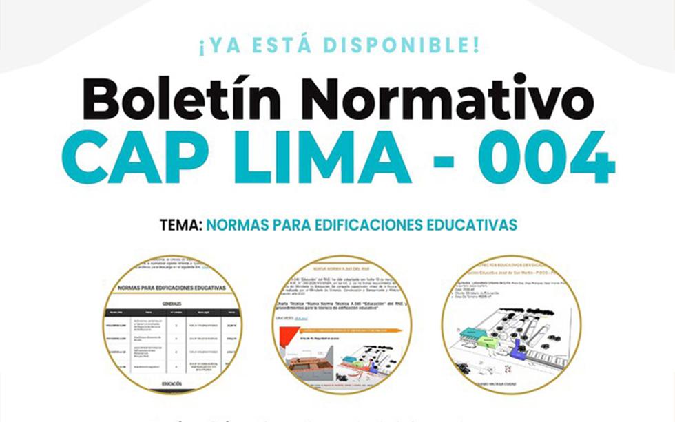 ¡Ya está disponible! Boletín Normativo CAP Lima N° 004 – Noviembre   NotiCAPLima 240-2020